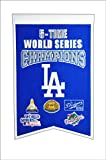 MLB Los Angeles Dodgers 5 Time WS Champions Banner, One Size