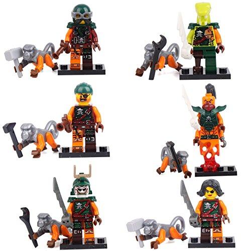 NINJAGO NINJA 6 Minifigures Monkey Bucko Shipmaster Sharply Building Bricks lEgO