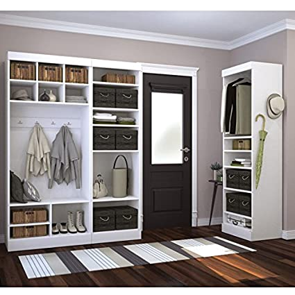 Genial Bestar Furniture 26873 17 Pur 86u0026quot; Mudroom Kit With 20 Open Storage  Sections And