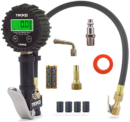 Quick Coupler O-ring - Digital Tire Pressure Gauge And Inflator for Air Compressors by Tikiko, 200 PSI, Copper Chuck, 90 Degree Extender, Thread Tape, Batteries, and 1/4 NPT Quick Connect