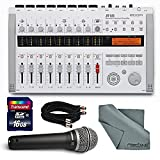 Zoom R16 Multi-Track Recorder & Mixer, Computer Interface & Controller Bundle with Q7 Mic + Cable + 16GB + FiberTique Cloth