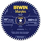 Irwin Tools  1807369 Marples Laser Cut 10-Inch 60-Tooth Alternate Tooth Bevel Circular with Raker Tooth Circular Saw Blade