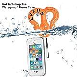 Waterproof Inflatable Camera/Phone Float Strap (2-Pack), EFFUN Waterproof Inflatable Float Strap for Underwater Camera,Phone and Key--Orange