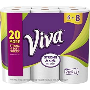 VIVA Choose-a-Sheet Big Roll Paper Towels, White, 88 sheets, 6 rolls