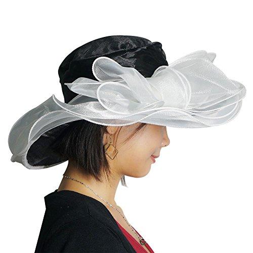a069224e529 June s Young Women s Organza Church Derby Hats Tea Party Wedding Hat 10  Colors