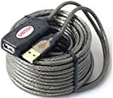 Tekit® 20 Meters(66 Feet) USB 2.0 Extension Cable Connect Pc with Far Away Webcam Skype Microphone Xbox Wifi Router Antenna Hard Driver Phone Charging