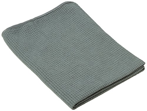 Chemical Guys MIC_781_01 Waffle Weave Gray Matter Microfiber Drying Towel (25 in. x 36 in.)