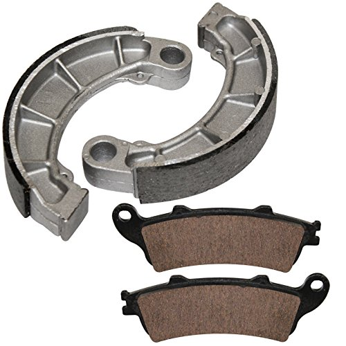 Caltric Front Brake Pads   Rear Brake Shoes Fits Honda Fes250x Fes 250X Foresight 250 1998