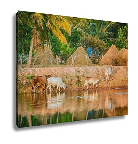 Ashley Canvas, Thai Buffalo Drink Water In River, Home Decoration Office, Ready to Hang, 20x25, AG6344554 by Ashley Canvas