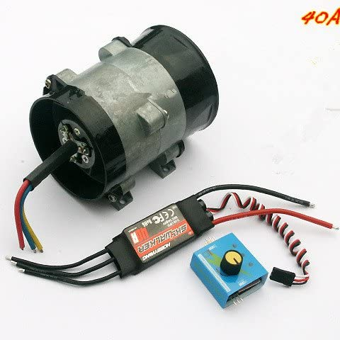 12V 16.5A Autos Electric Supercharger Turbo intake Fan Boost w//ESC40A Airplane