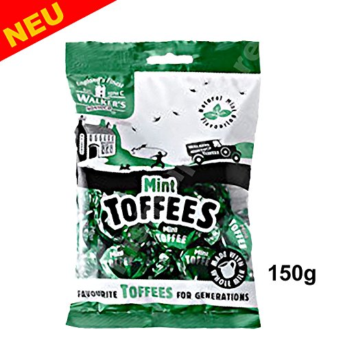 Walker's Nonsuch Mint Toffees 150g Bag (New)