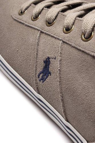 Polo Ralph Lauren Hanford Herren Leder-Sneaker Beige Beige