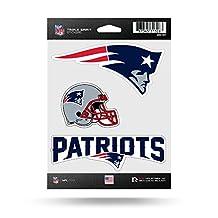 NFL Triple Spirit Stickersnfl Triple Spirit Stickers, Maroon, White, Black, 3 Team Stickers