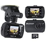 Auto kamera, Full HD 1080P Träger-Auto-DVR mit G-Sensor Auto-Armaturenbrett Schwarz