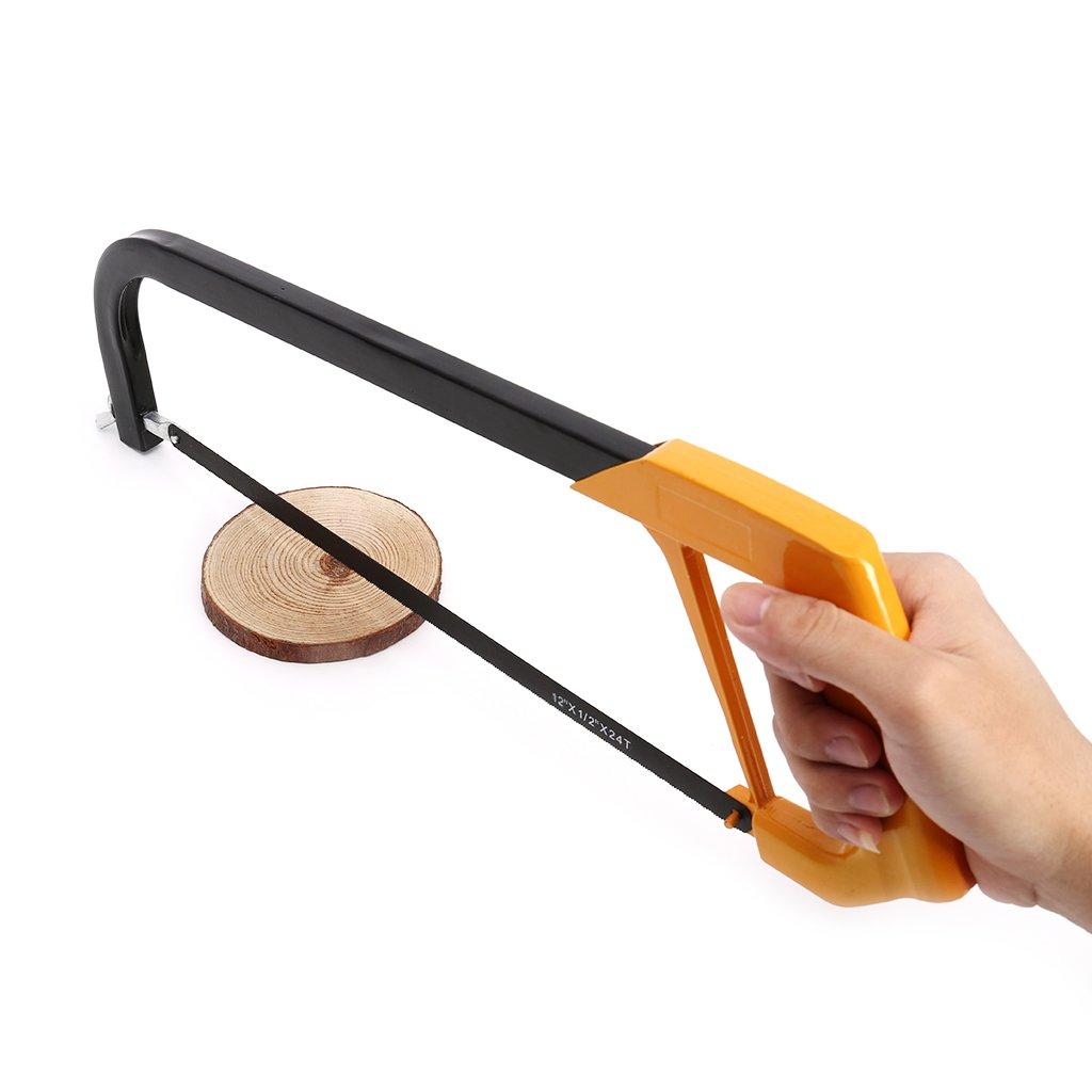 Yintiod 12-Zoll-justierbares Metalls/ägen-Handwerkzeug mit dem Aluminiumlegierungs-Rahmen der Holz schneidet hands/äge