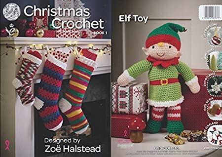 King Cole Christmas Crochet Book 1 Festive Xmas Decorations Advent