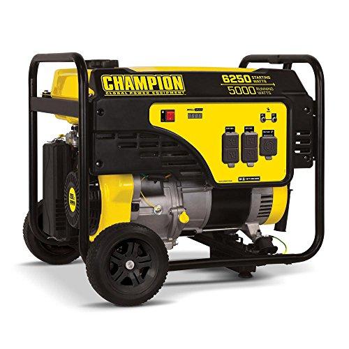 Cheap Champion 5000-Watt Portable Generator with Wheel Kit