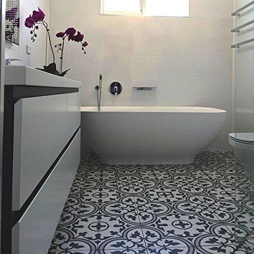 SomerTile 9.75 x 9.75-inch Art Grey Porcelain Floor and Wall Tile (Case of 16) (16 Porcelain Tile)