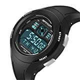 EVTCO Kids LED Digital Unusual Sports Outdoor Children's Wrist Dress Waterproof Watch with Silicone Band, Alarm, Stopwatch for Girls
