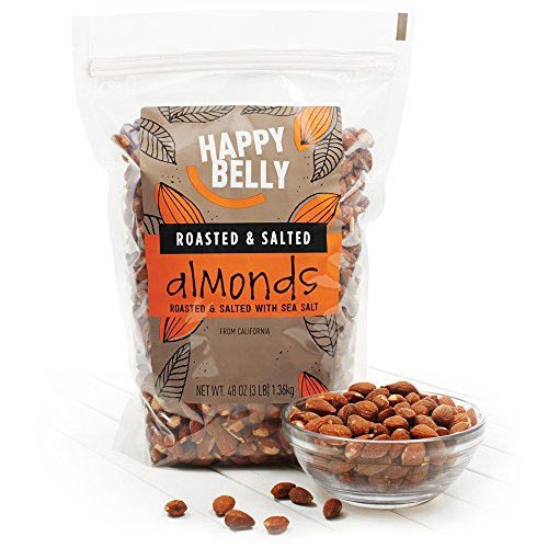 Happy Belly Roasted & Salted California Almonds, 48 Ounce
