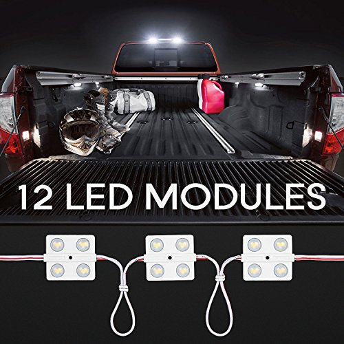 LED Interior Light Kit for Auto Vehicle, 48 LEDs, Wet Location Applicable, 5000K Daylight White, UL-listed Lighting Kit for Van, Boat, Truck, Caravan, Sprinter, LWB, Dome Roof Ceiling Lights (Ul Listed Wide Body)