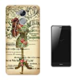 "000535 - Vintage Shabby Chic Victorian Floral Roses Mannequin HUAWEI Nova Smart 5"" CASE Gel Silicone All Edges Protection Case Cover"