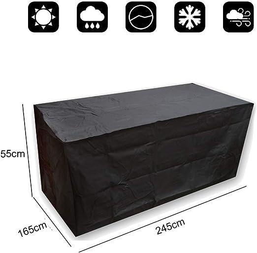 Vinteky® Impermeable Funda Resistente para Muebles de Jardín, Rectángulo(XL) Negro: Amazon.es: Jardín