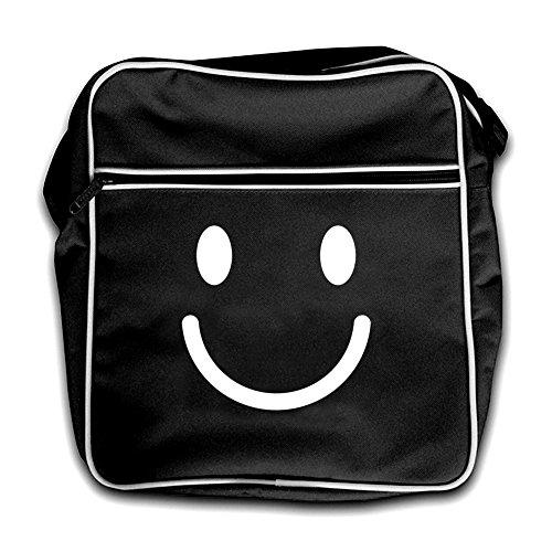 Bag Face Flight Black Retro Dressdown Smiley Red 8AqgApw