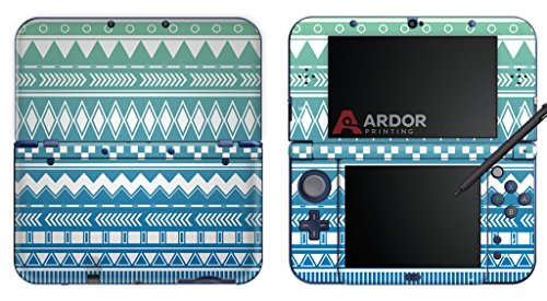 teal-blue-pastel-ombre-aztec-nintendo-3ds-xl-skin-decal