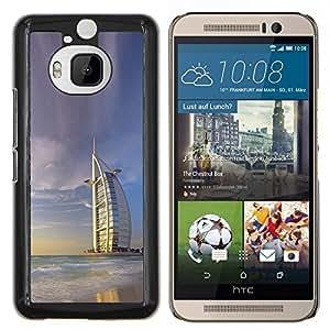 TECHCASE---Cubierta de la caja de protección para la piel dura ** HTC One M9+ M9 Plus ** --Burj Dubai