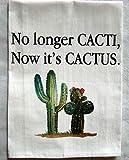 Cacti Cactus printed tea towel
