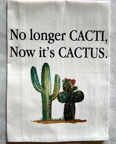 Printed Tea Towel - Cacti Cactus printed tea towel