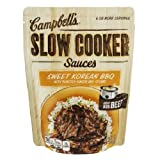 Campbell's Slow Cooker Sauces: Sweet Korean BBQ (Pack of 3) 13 oz Bags