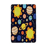 ALAZA Home Decor Cartoon Solar System Planet Blanket Soft Warm Blankets for Bed Couch Sofa Lightweight Travelling Camping 90 x 60 Inch Twin Size for Kids Boys Girls