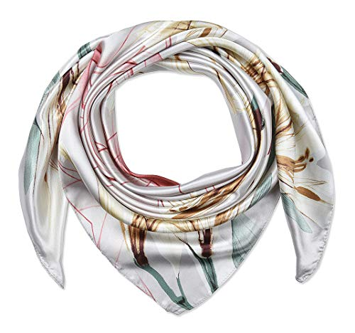 "35"" Ladies Satin Square Silk Like Hair Scarves and Wraps Headscarf for Sleeping"