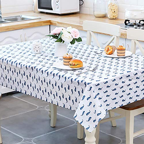 joiner Decorative Floral Print Tablecloth,Durable Wrinkle Free Waterproof and Table Cover for Kitchen Dinning Table Protector -Table Pad(Rectangle/Oblong,52 x 70 Inch (130180CM, Green)