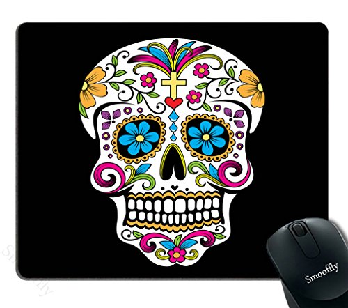 Smooffly Gaming Mouse Pad Custom,Sugar Skull Customized Rectangle Non-Slip Rubber Mousepad Gaming Mouse Pad