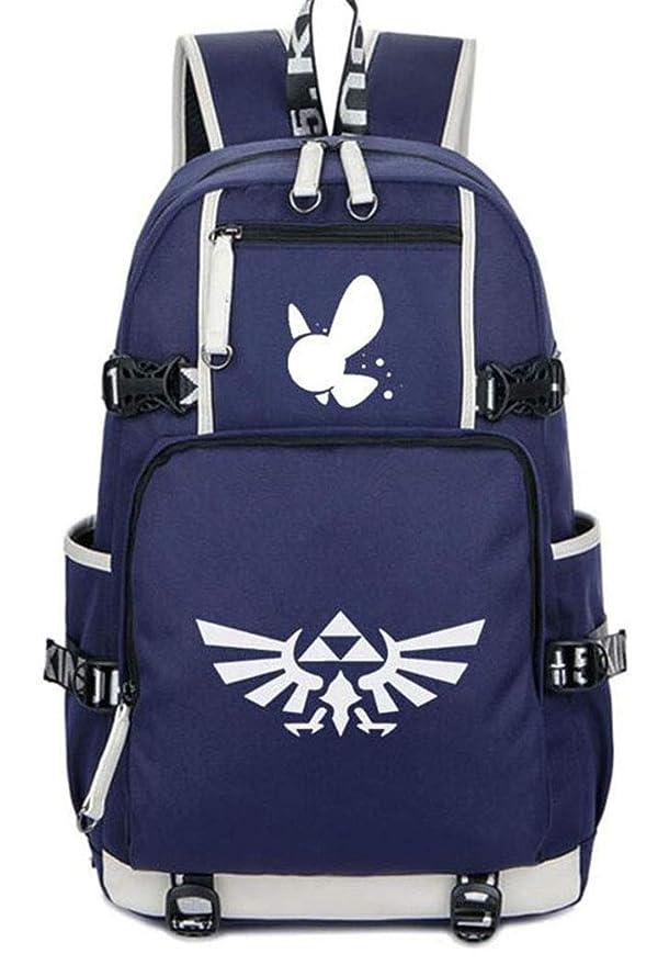 Cosstars The Legend of Zelda Juego Luminoso Mochila Escolar Estudiante Bolso de Escuela Backpack Mochila para Portátil Azul-1: Amazon.es: Equipaje