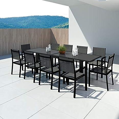 Avril Paris Hara XL - Table de Jardin Extensible Aluminium ...