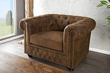 Casa Padrino Chesterfield Sessel Antikbraun Aus Dem Hause Lounge
