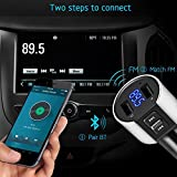 Bligli Bluetooth FM Transmitter Car Chargers Car