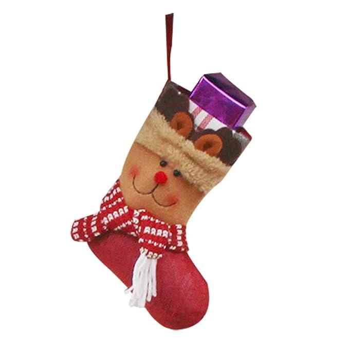 Weimay 1 UNIDS Decoraciones de Navidad de Dulces Calcetines Decoración de Navidad Lindo Elk Inicio Colgante Árbol Decoración Regalos Bolsa, ...