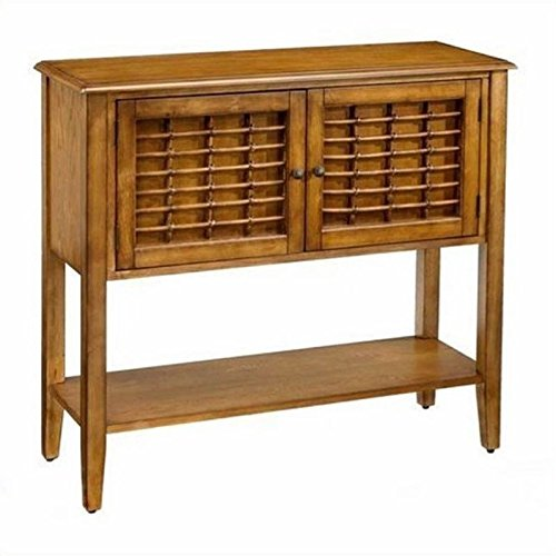 Hillsdale Furniture 4766-850 Bayberry Sideboard with 2 Doors Bottom Shelf Bamboo Effect and Clean Lines in