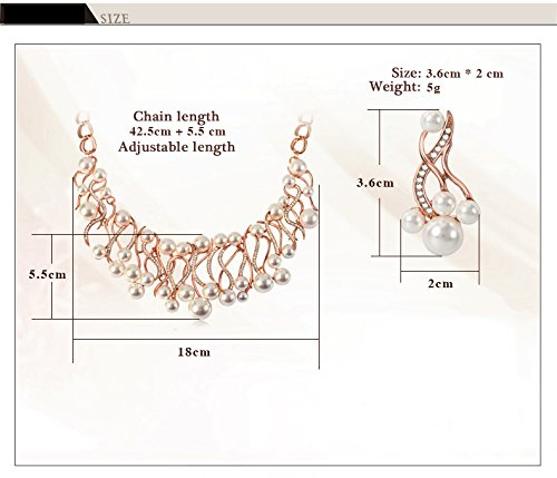 IUHA Pearl Necklace Elegant Jewelry/Gift /Fade Resistant/Hypoallergenic by IUHA (Image #5)
