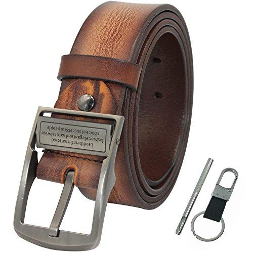 Men's Full Grain Leather Belt With Nickel Free Buckle - 1.5