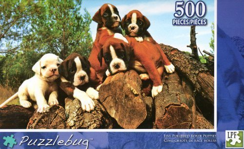 Five Purebred Boxer Puppies - Puzzlebug - 500 Pc Jigsaw Puzzle - NEW by Puzzlebug ()