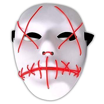 Amasawa Led Mascaras Adultos Cosplay Sin Bateria Con 4 Modos Para
