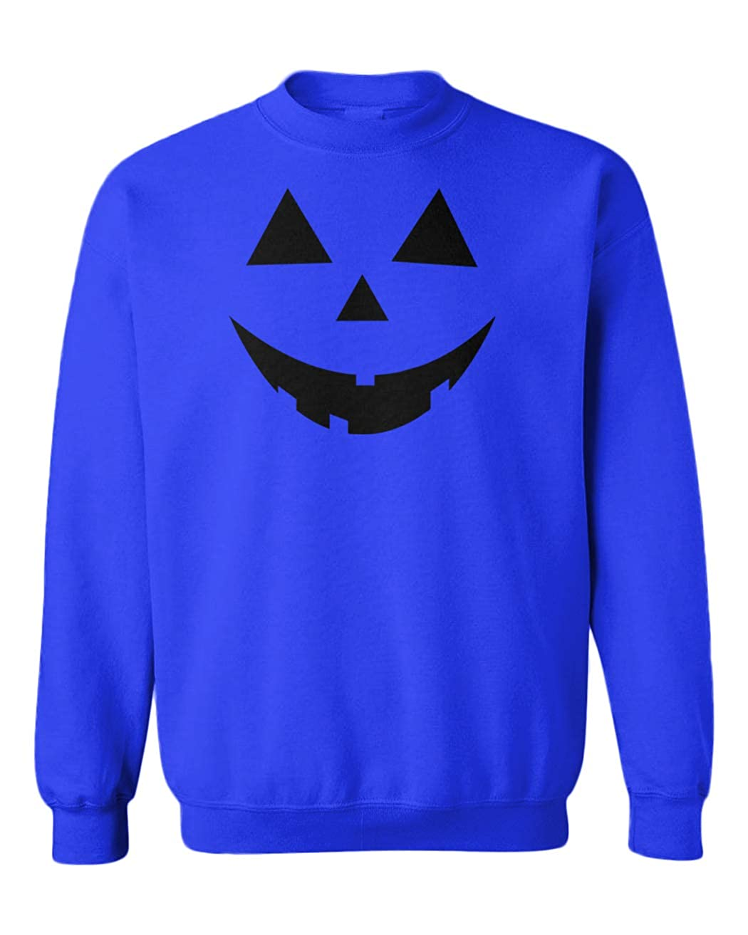 Pumpkin Face Jack O Lantern Youth Fleece Crewneck Sweater