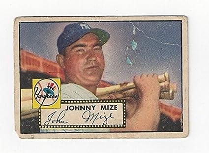 Vintage Johnny Mize Collectible Baseball Card 1952 Topps