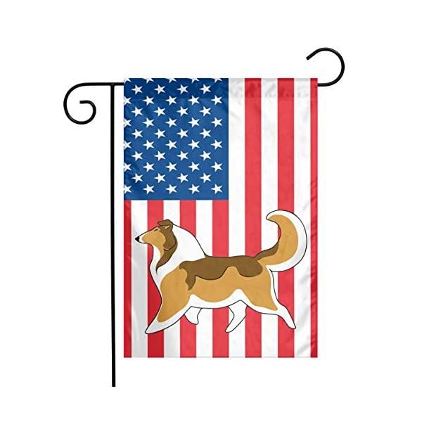 Rough Collie Garden Flag Party Decor Flags For Celebration,Festival,Home,Outdoor,Garden Decorations 12 X 18 Inch 1